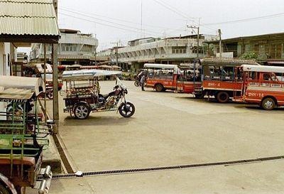 Old tuk tuk at Ban Dung Bus Station in Udon Thani.