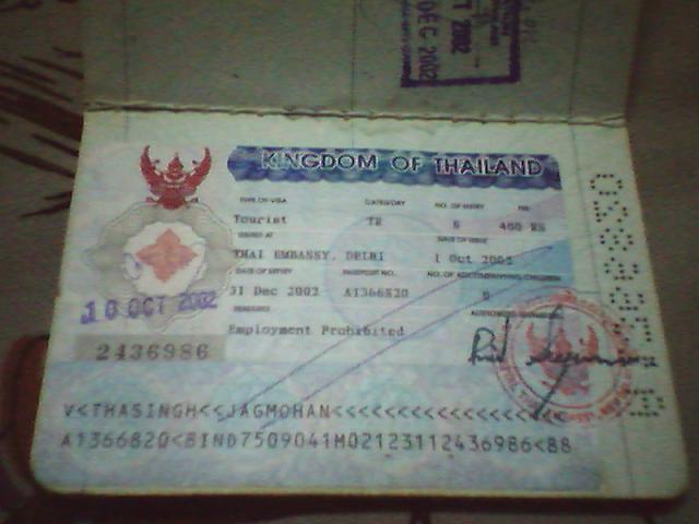 Thailand tourist visa