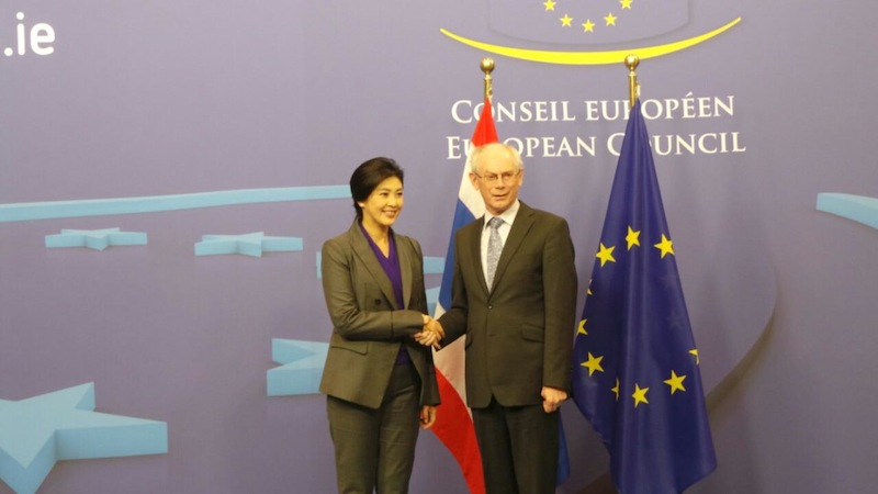 Thai Prime Minister Yingluck Shinawatra satisfied with European trip