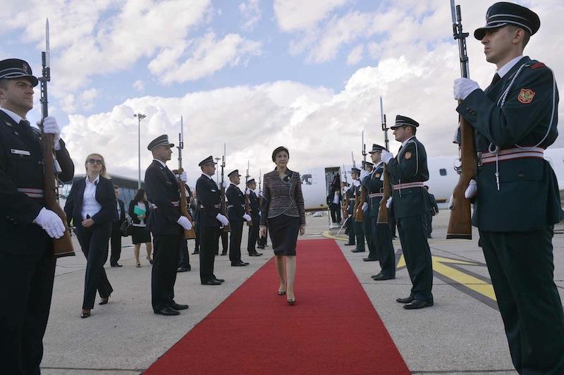Official reception for Yingluck Shinawatra