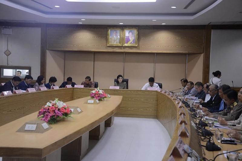 Yingluck Shinawatra Cabinet meeting