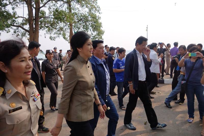 Yingluck Shinawatra when she was Prime Minister of Thailand