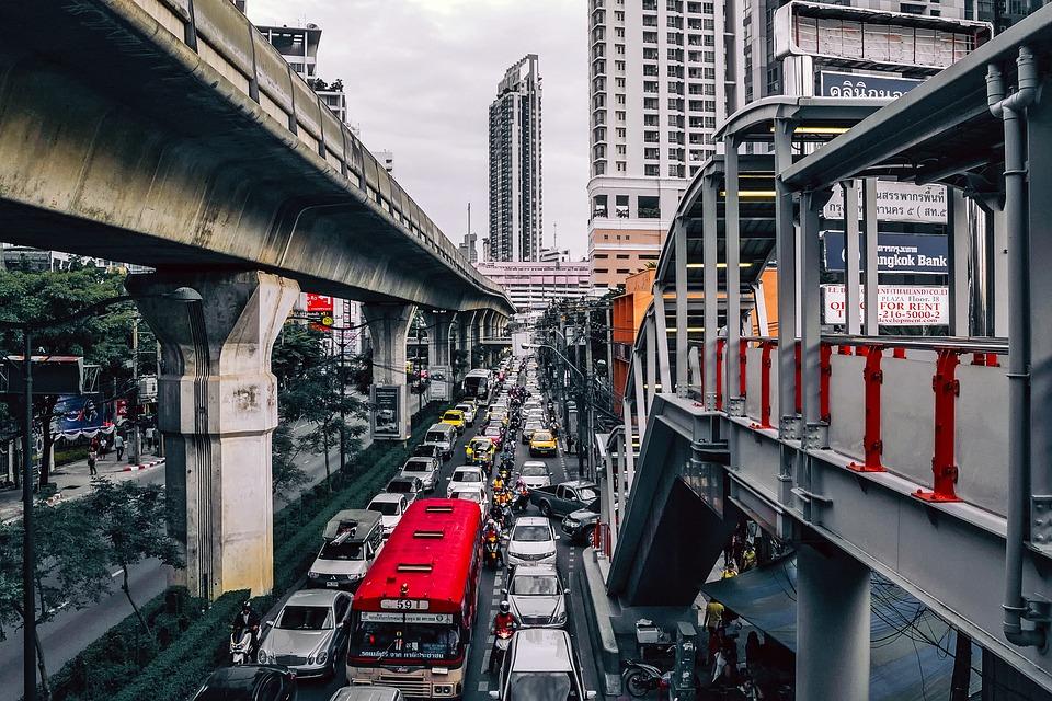Traffic congestion in Bangkok