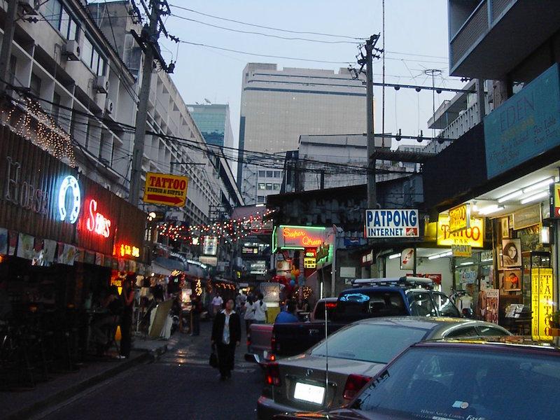 Patpong area in Bangkok