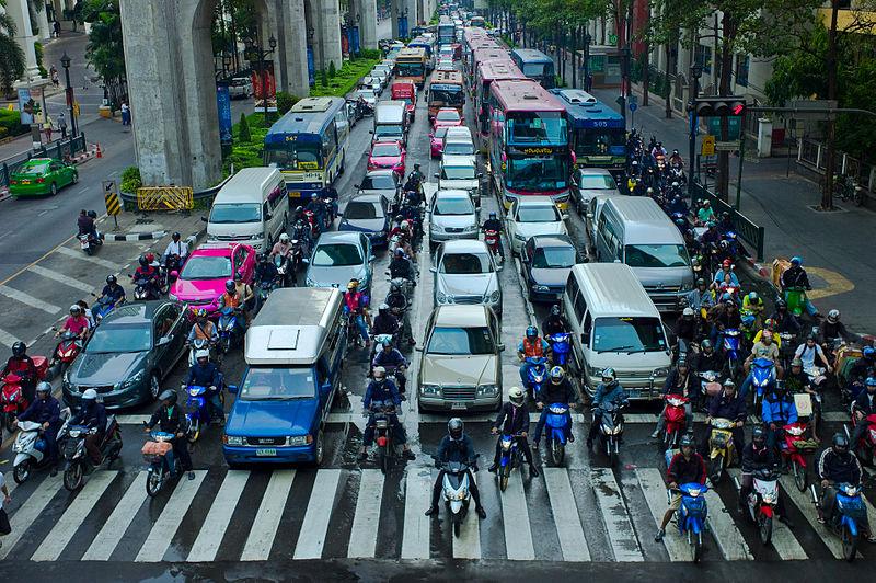 Traffic jam in Bangkok