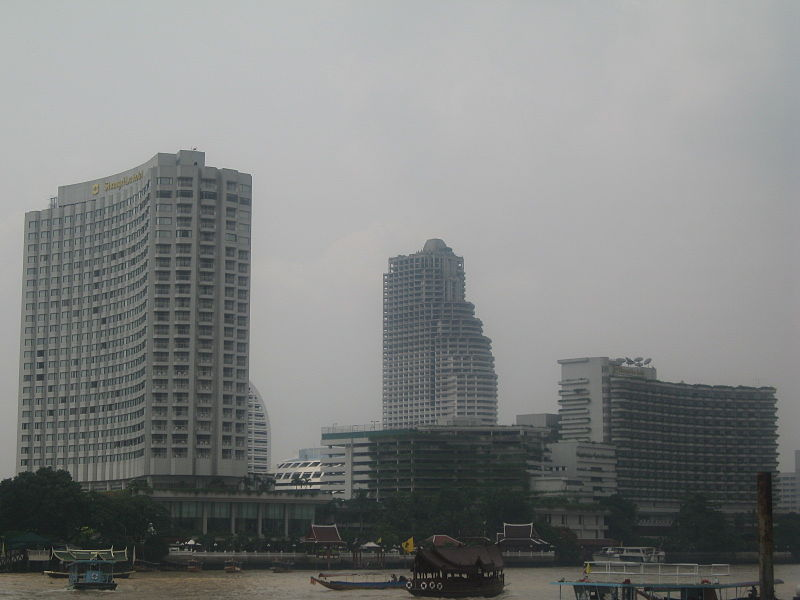 The Shangri-La hotel and the Chao Phraya River, Bangkok