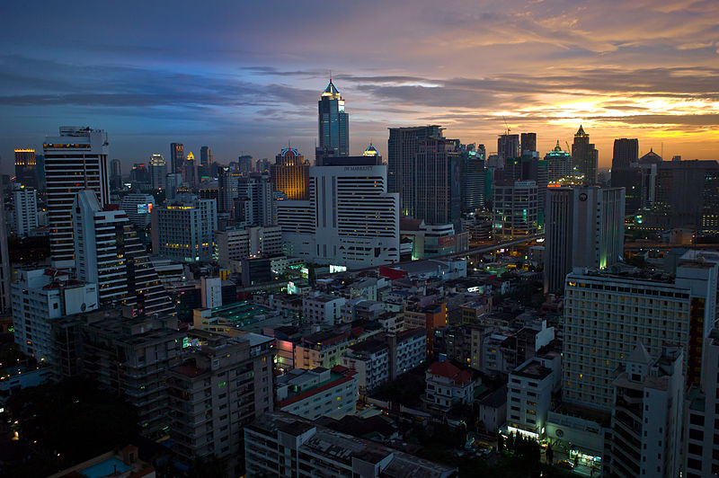 Sunset in Sukhumvit, Bangkok
