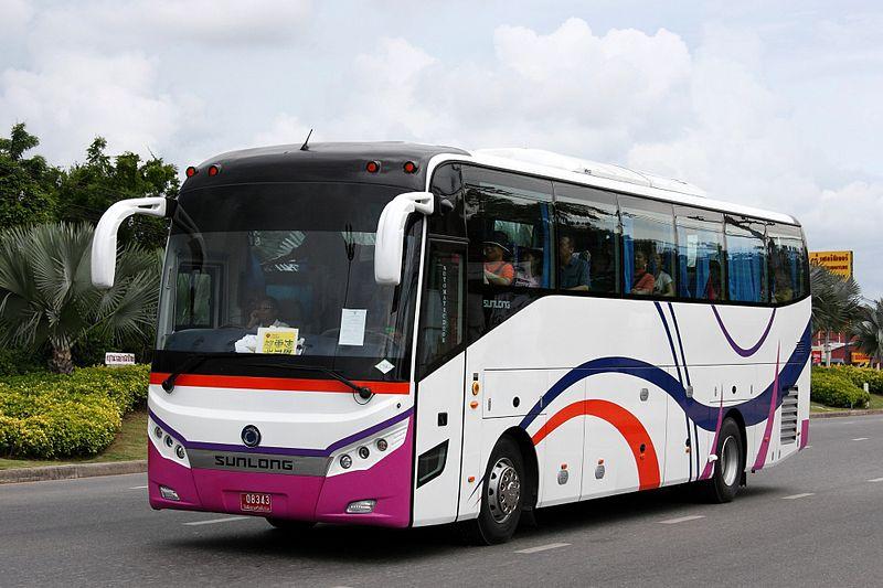 Sunlong SLK6126 bus in Pattaya, Chonburi