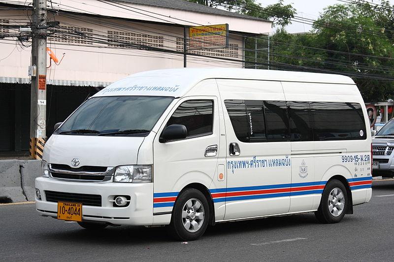 Toyota minivan commuter in Sri Racha