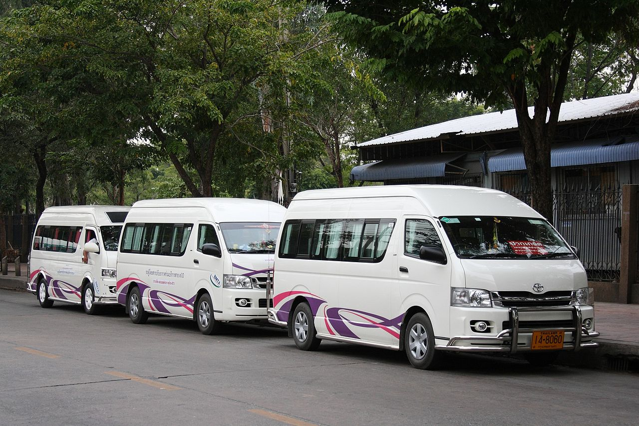 Toyota Commuter vans in Bangkok