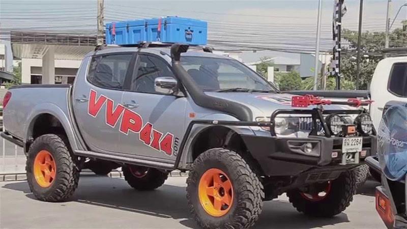 Heavily modified pickup