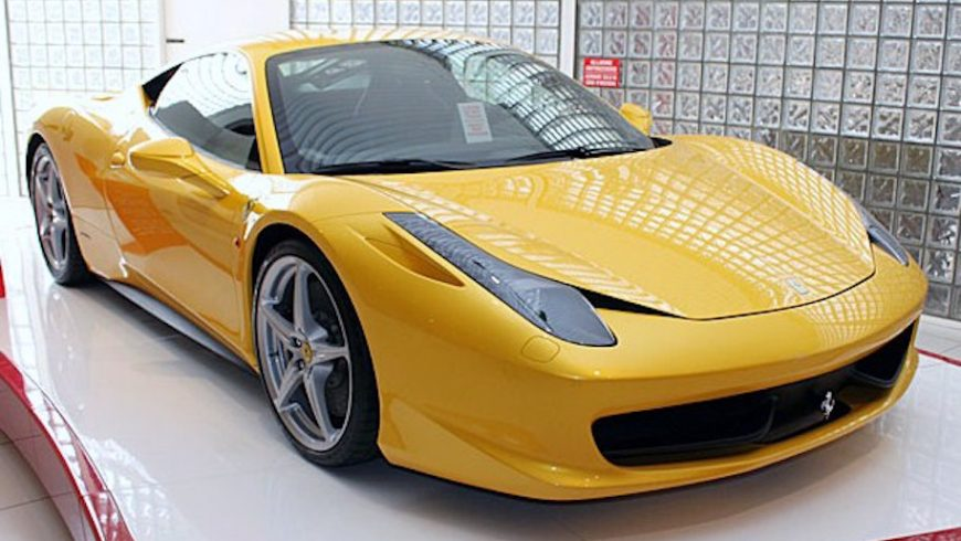 Ferrari 458 Italia luxury sports car