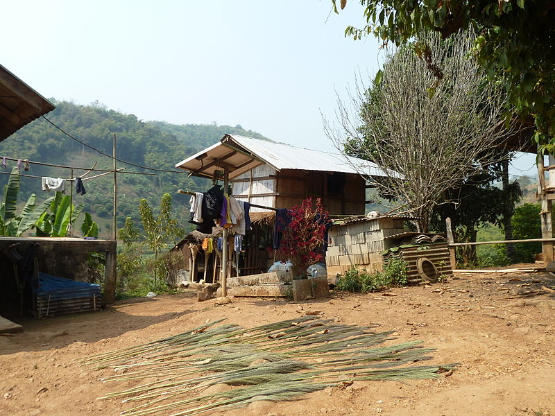 Akha Hill Tribe village. Chiang Rai