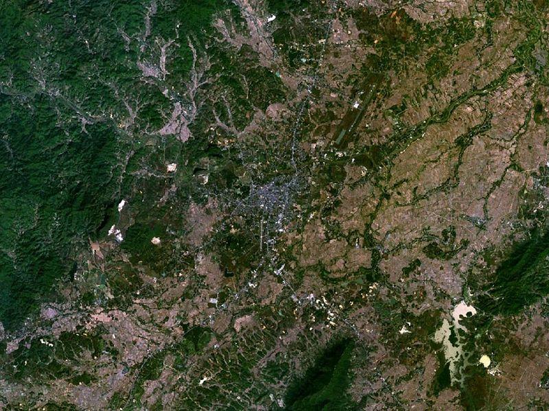 Chiang Rai satellite view