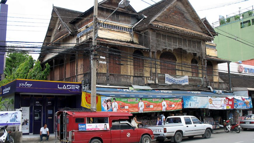 Traditional wooden house in Chiang Mai