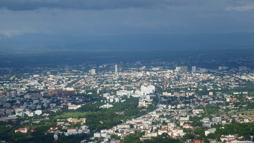 Chiang Mai city aerial view