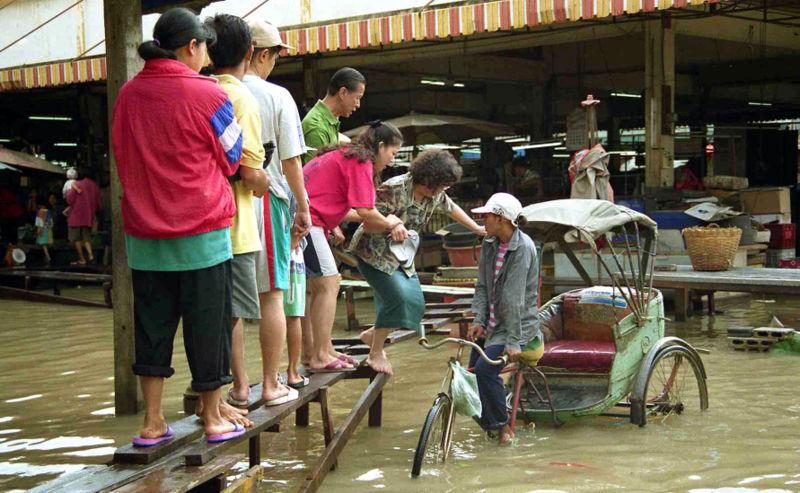 Flooding in Amphoe Sena, Ayutthaya Province