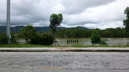 Heavy rains flood Koh Libong off Trang province