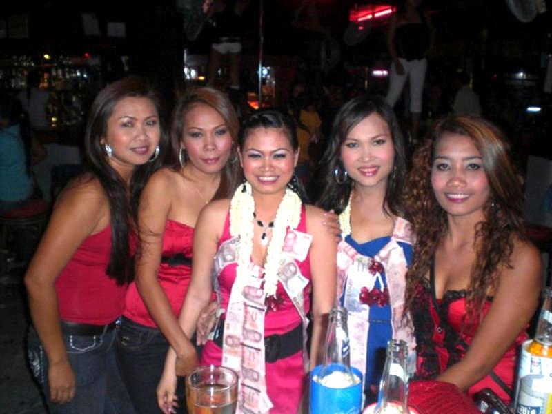 Girls in a club in Thailand