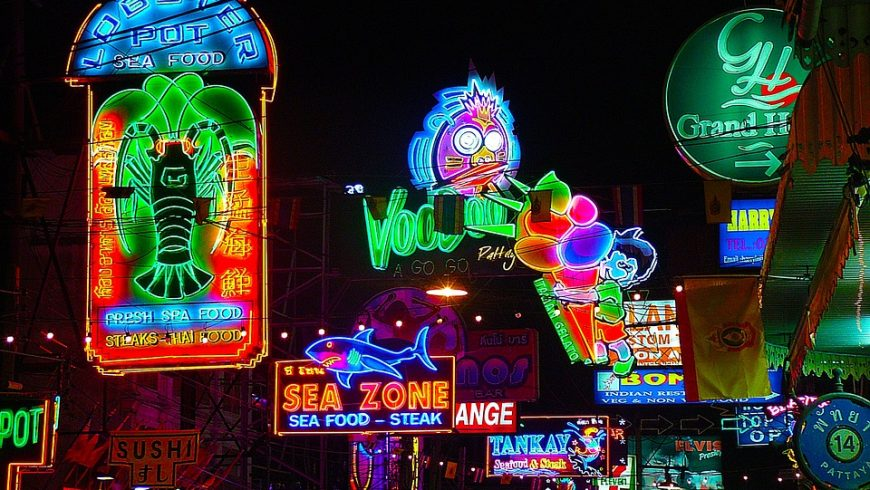 Neon lights in Pattaya