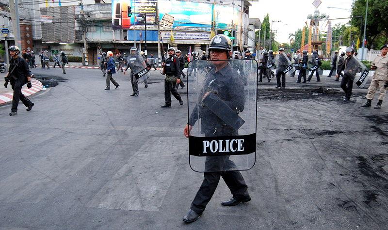 Bangkok Police battle protesters at Thai-Japanese Stadium