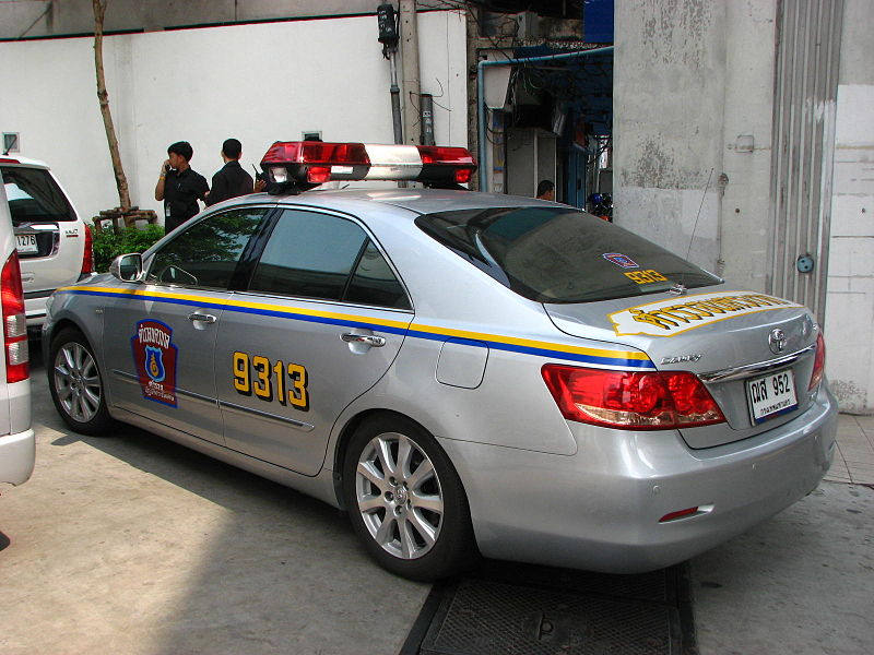 Police Highway Patrol Toyota Camry VVTi in Thailand