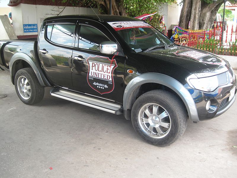 Car with Police United FC logo