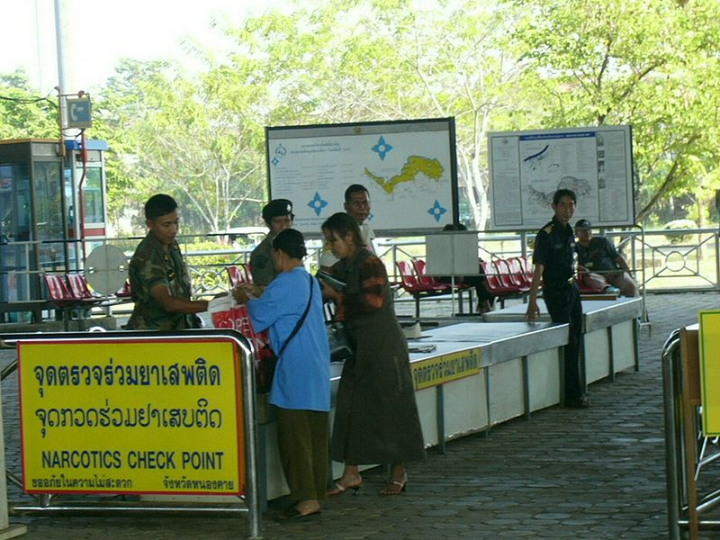Police border control checkpoint