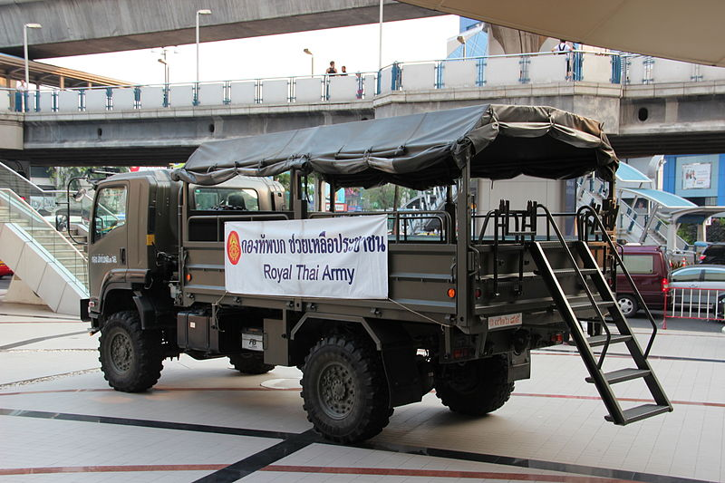 Royal Thai Army vehicle in Bangkok