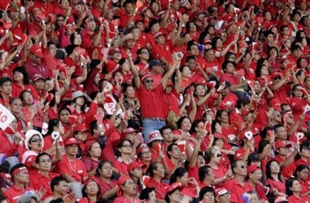'Red' protesters demand Thai PM Abhisit's resignation