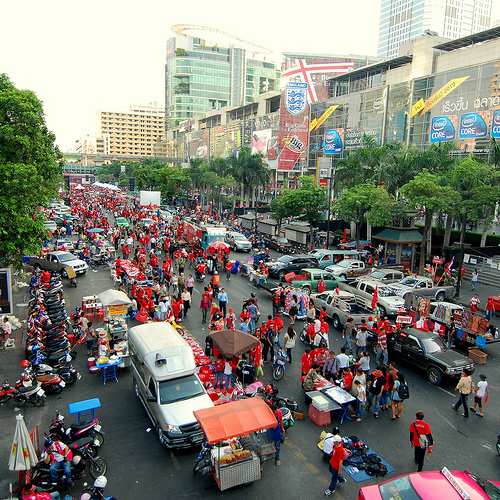 Video: Red Shirt protest in Ayutthaya, Thailand