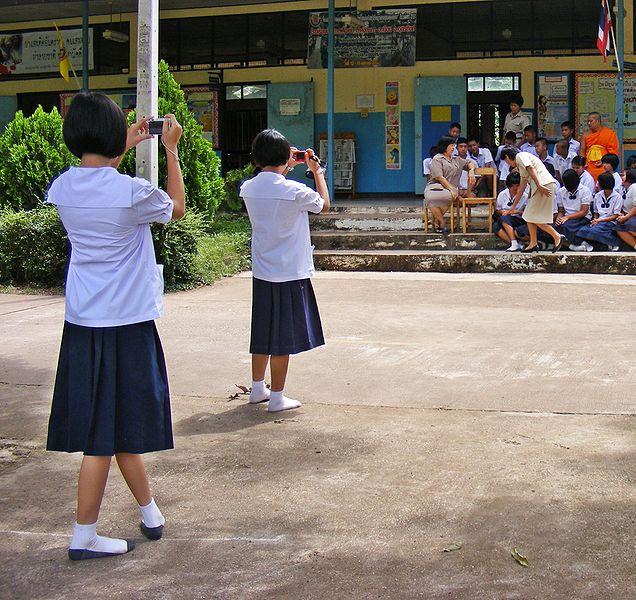 Bangkok Schoolgirls Caught for Prostitution