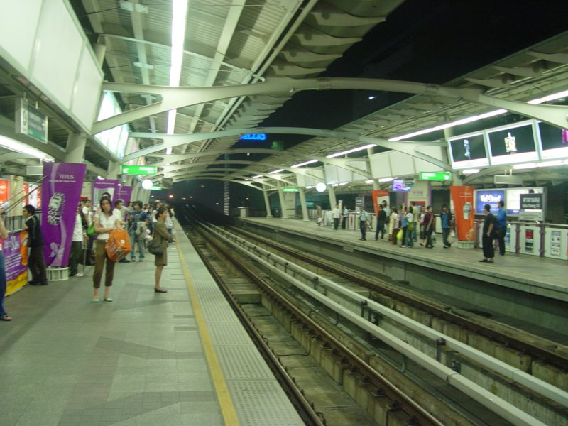 Skytrain station in Bangkok