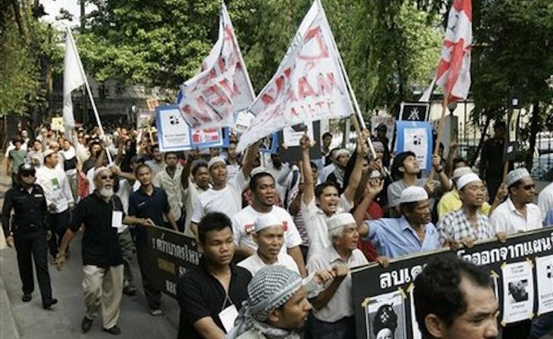 Muslim protests in Southern Thailand