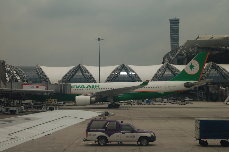 EVA Air Airbus A330 at Suvarnabhumi Airport